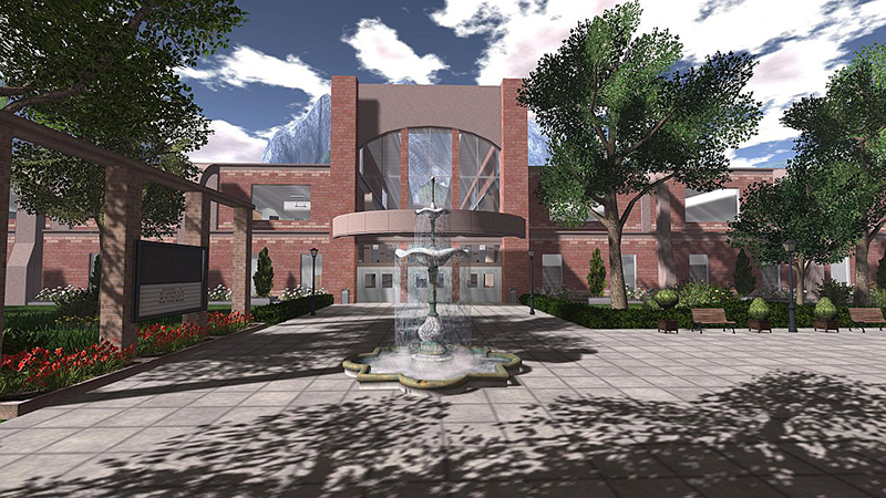 Academic Campus 4 - one of Linden Labs turnkey designs, photographed by Wildstar Beaumont
